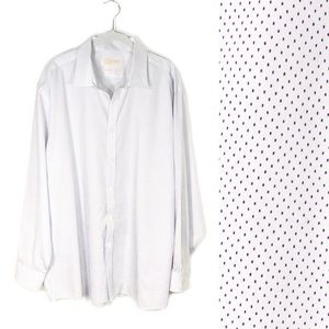 Michael Kors button down white with purple dots